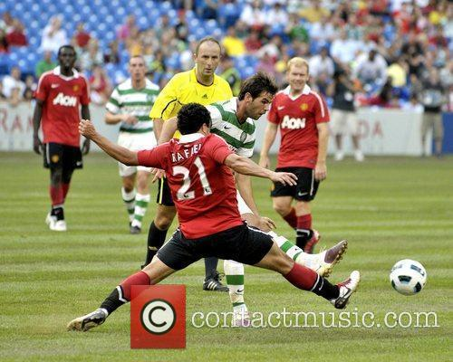 Rafael and Shaun Maloney Manchester United vs Celtic...