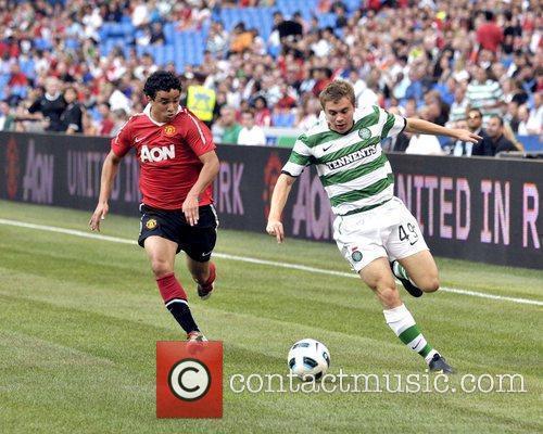 Rafael and James Forrest Manchester United vs Celtic...