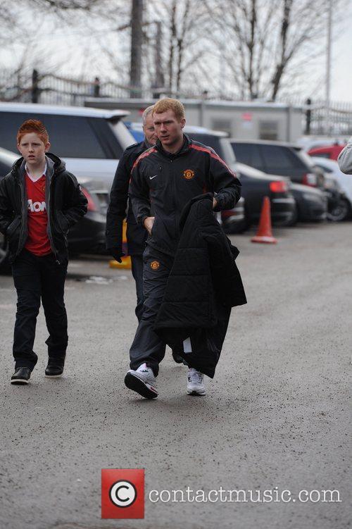 Arrives at the Manchester United Vs Sunderland Match...