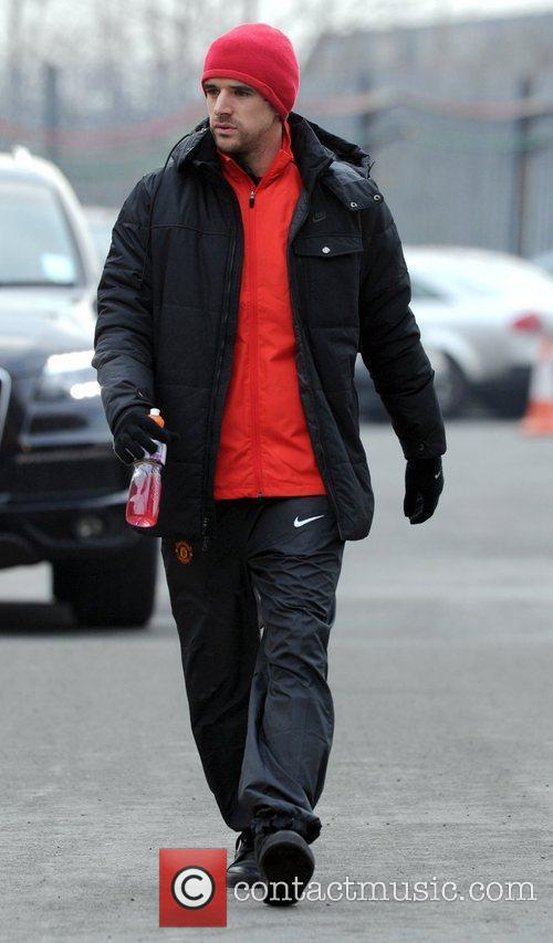 Owen Hargreaves arrives at Manchester United's stadium Old...
