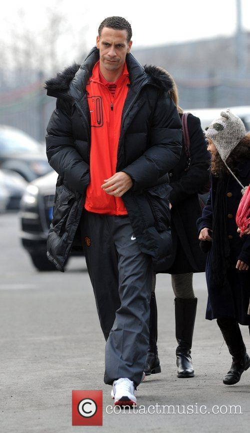 Rio Ferdinand arrives at Manchester United's stadium Old...