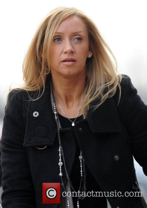 Claire Scholes arrives at Manchester United's stadium Old...