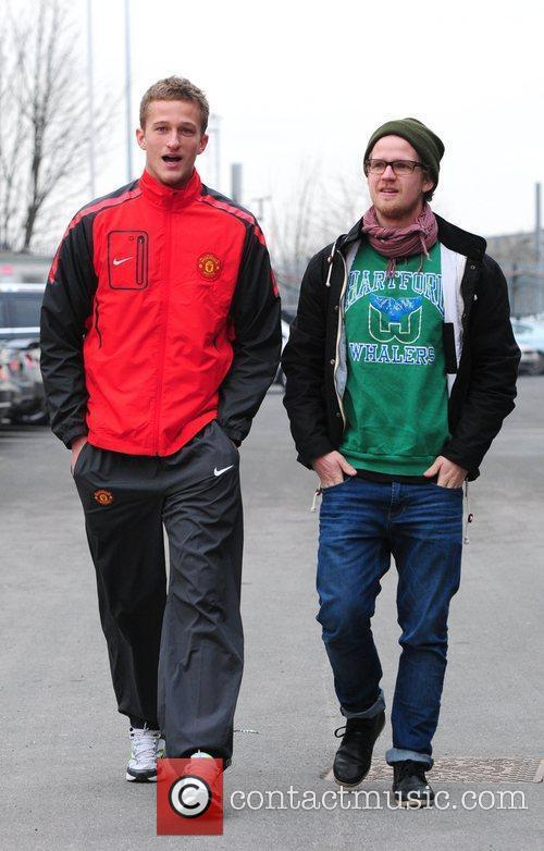 Anders Lindegaard arrives at Manchester United's stadium Old...