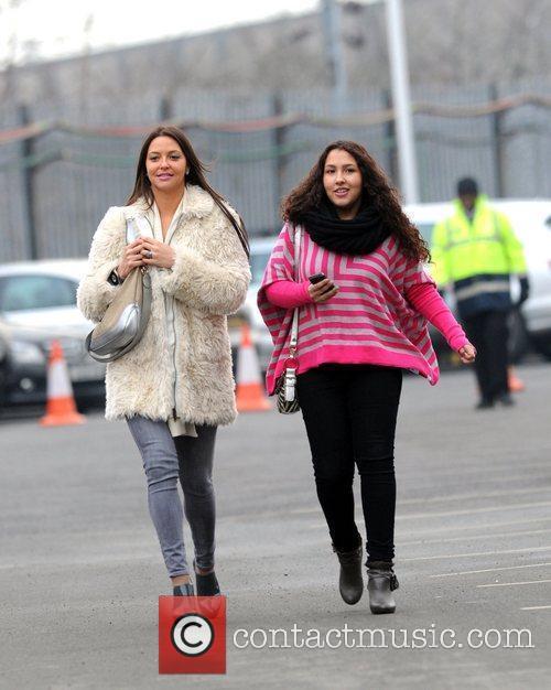 Daniela Matrins arrives at Manchester United's stadium Old...