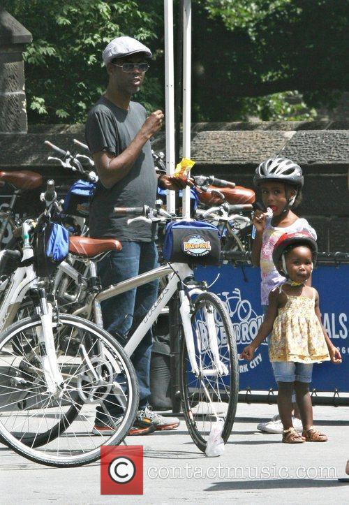 Chris Rock and his daughters Lola Simone and...