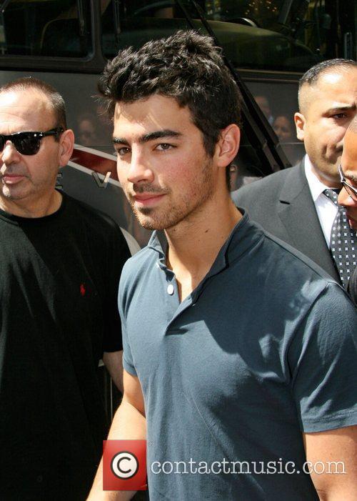 Joe Jonas leaving his Hotel in Manhattan