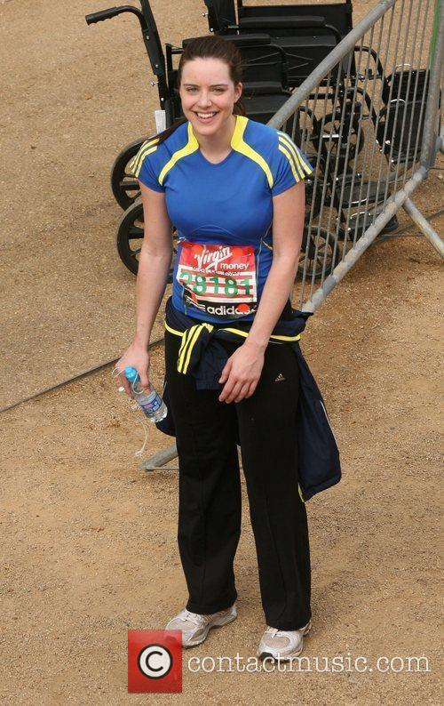 Michelle Ryan The finish line of the 2010...