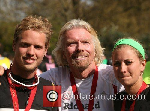 The finish line of the 2010 Virgin London...