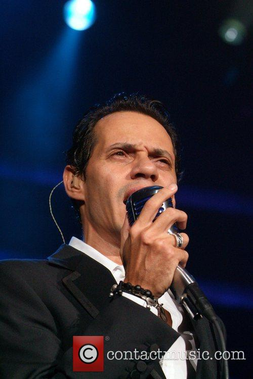 Marc Anthony performs live at the American Airlines...