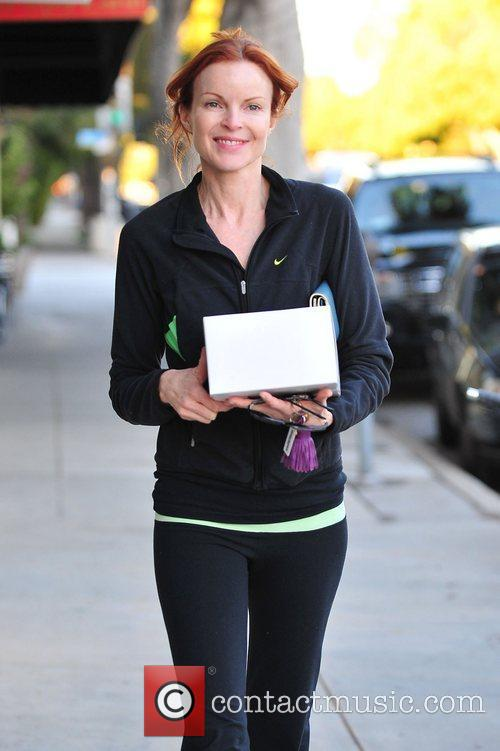 Marcia Cross out and about in Santa Monica...