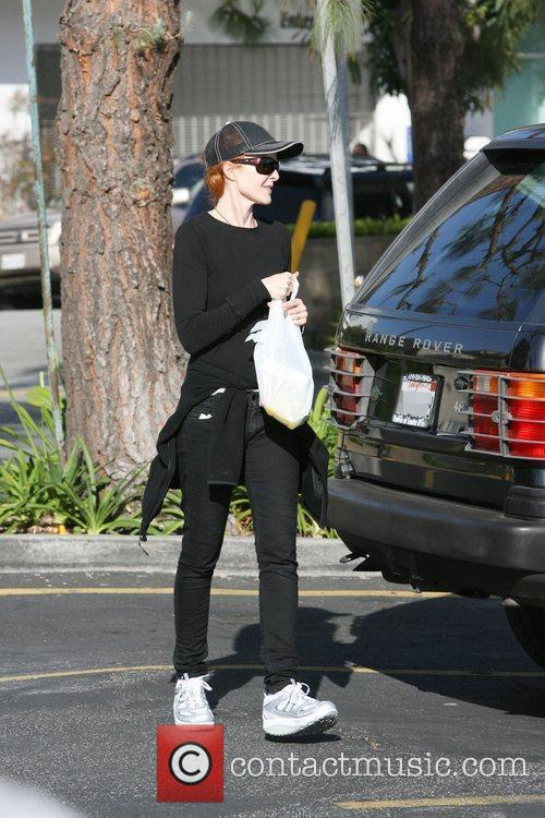 Marcia Cross goes shopping for groceries at Albertson's...