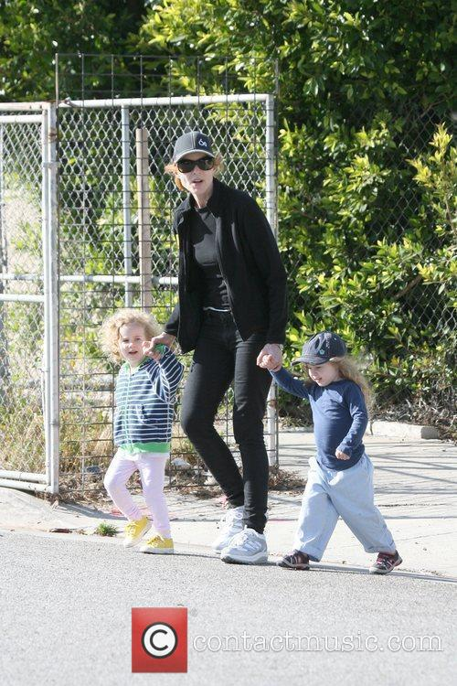 Marcia Cross took her twin daughters Eden and...
