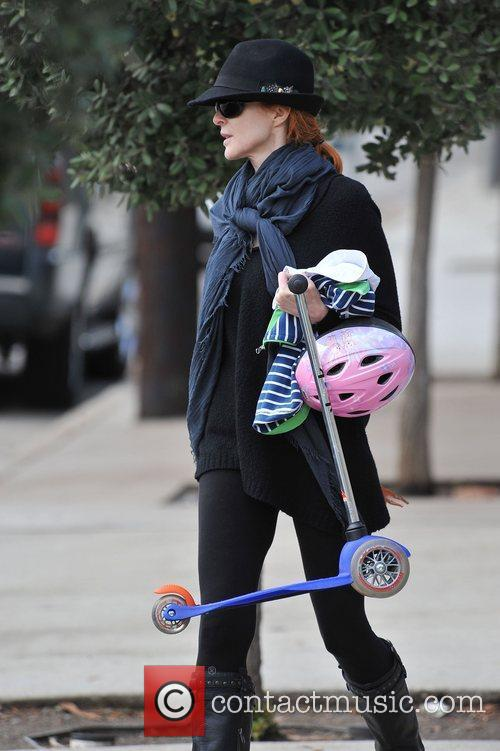 Marcia Cross enjoys a family day at a...