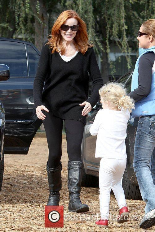 Marcia Cross and Eden Mahoney Marcia Cross takes...
