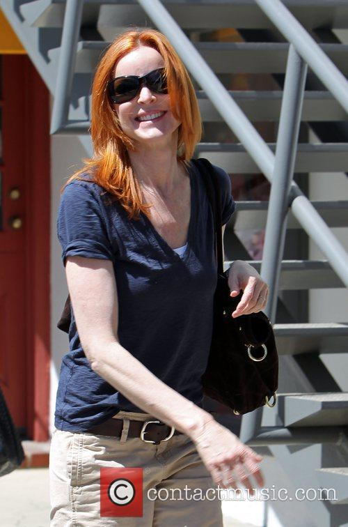 Marcia Cross goes shopping at Haven & Co...