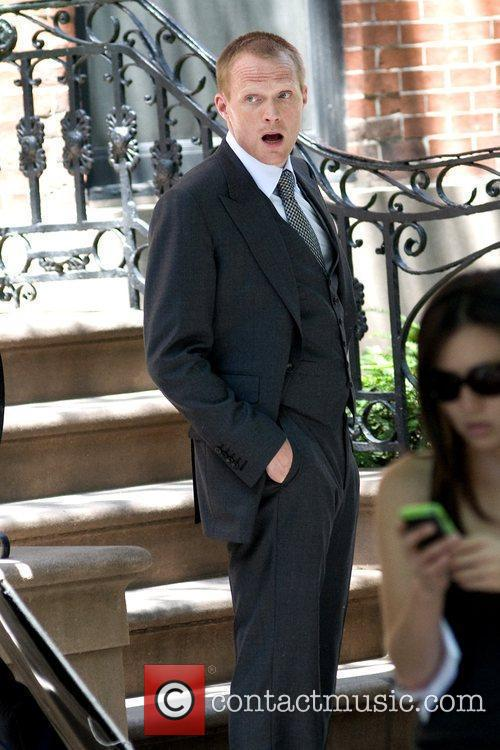 Paul Bettany on the film set of 'Margin...