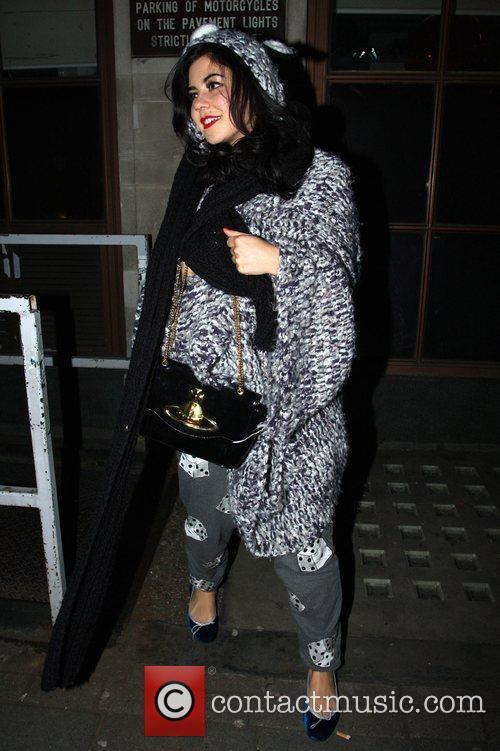 Marina Diamandis from Marina and the Diamonds leaving...