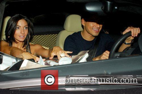 Mario Lopez leaving Armani Exchange on Robertson Boulevard...
