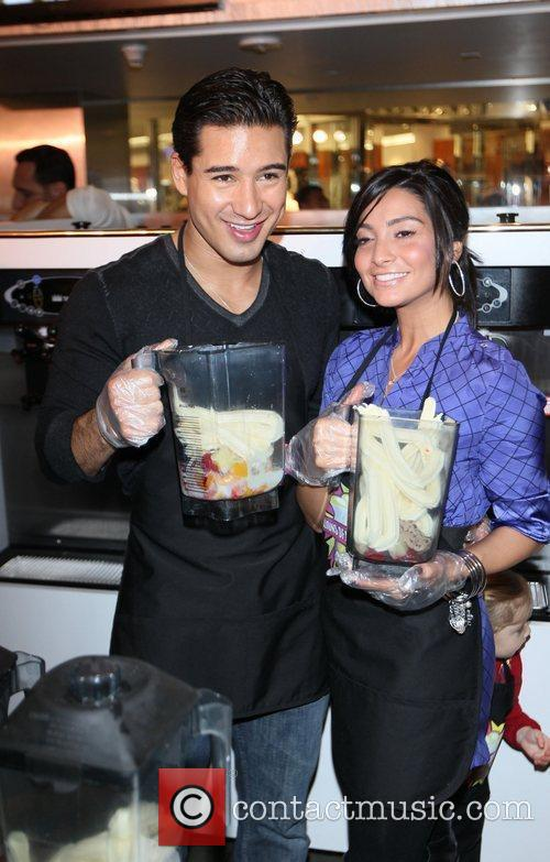 Mario Lopez and girlfriend Courtney Mazza visit Millions...