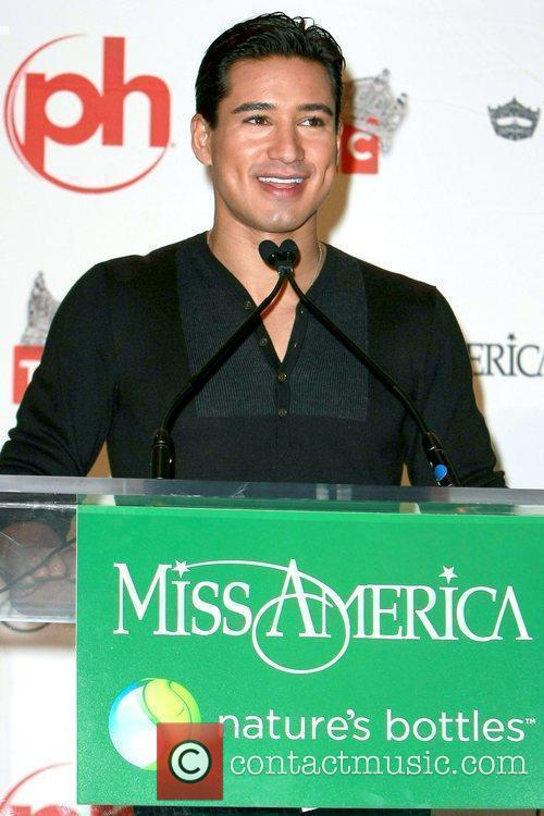 Mario Lopez at a news conference for the...