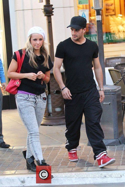 Mark Ballas and a female companion out shopping...
