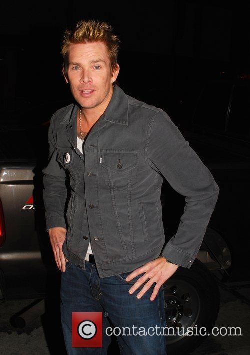 Mark Mcgrath leaves BOA Steakhouse in Beverly Hills...
