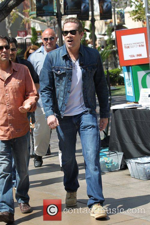 Mark McGrath arriving at The Grove in Hollywood...