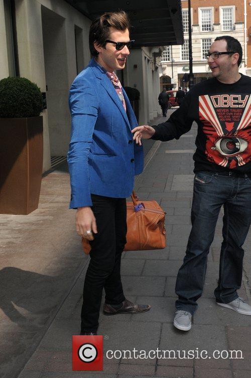 Mark Ronson outside the May Fair hotel London,...