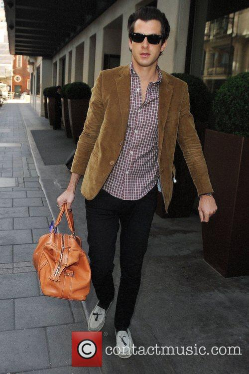 Mark Ronson leaving the May Fair hotel London,...