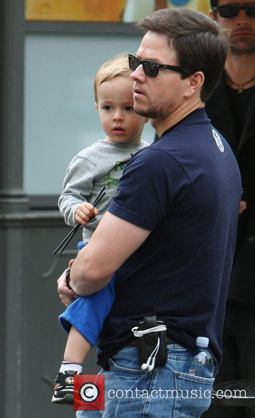 Mark Wahlberg with his son Brendan out and...