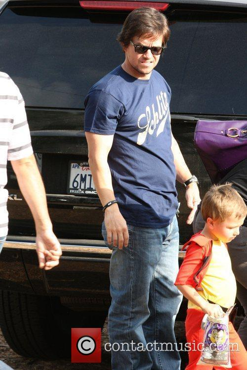 Mark Wahlberg enjoys a family day out at...