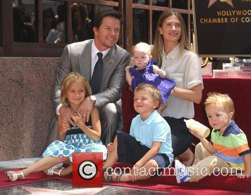 Mark Wahlberg, his wife and children  Mark...