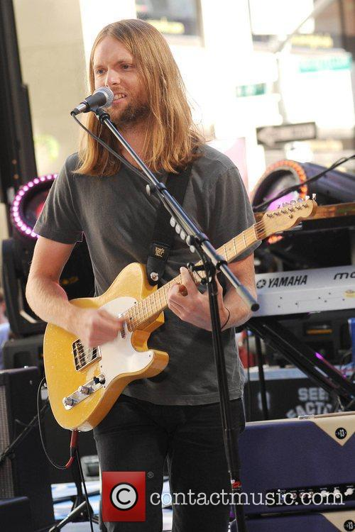 Maroon 5 performing on NBC's 'Today' held at...