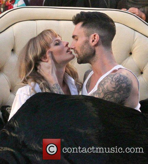 Adam Levine and Anne Vyalitsyna 2