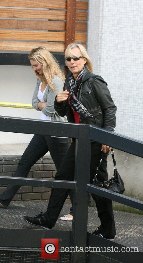 Martina Navratilova arrives at ITV studios