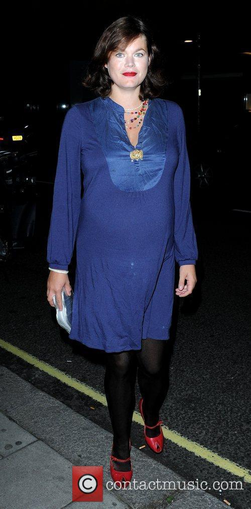 Heavily pregnant Jasmine Guinness arriving at the Martina...