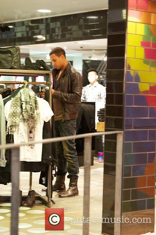 Marvin Humes of boy band JLS shops in...