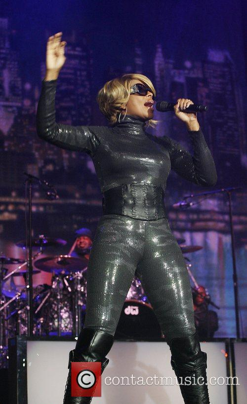 Mary J. Blige performing in concert at the...