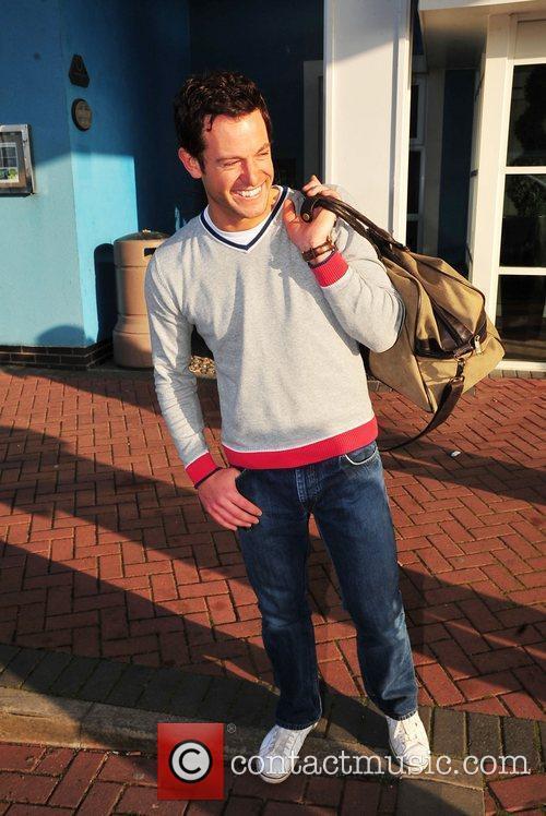 Matt Baker leaving his hotel after confirming he...