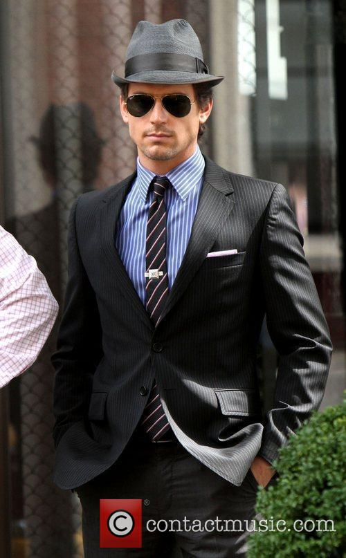 Matt Bomer shooting on location for the 2nd...