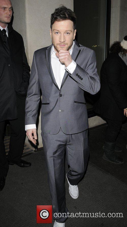 X Factor winner Matt Cardle leaving his hotel...