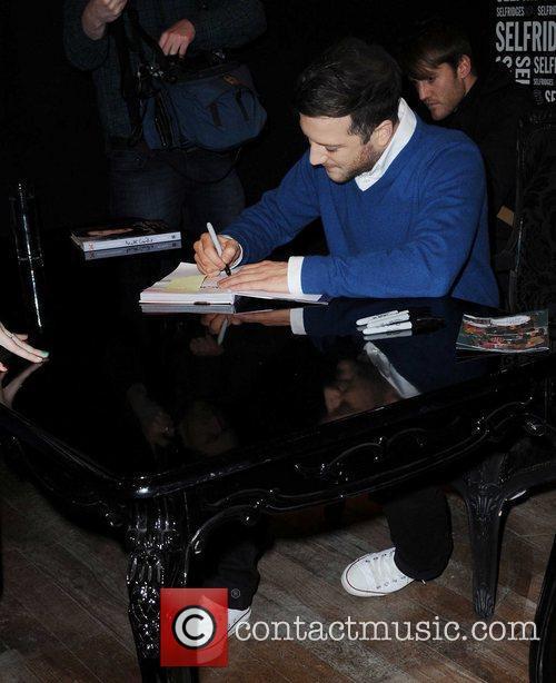 Matt Cardle signing copies of his book 'My...