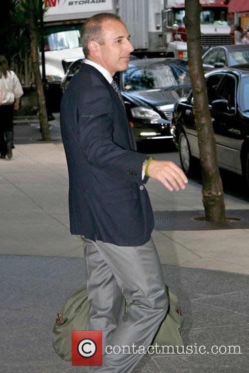 Matt Lauer NBC's 'Today' show anchor outside his...