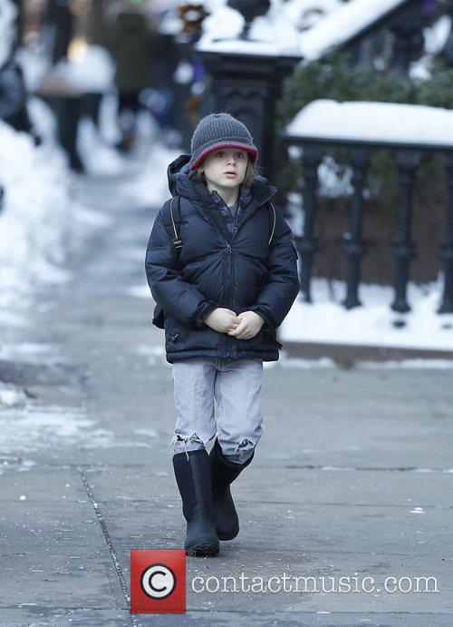 James Wilke Broderick to school walking to school...