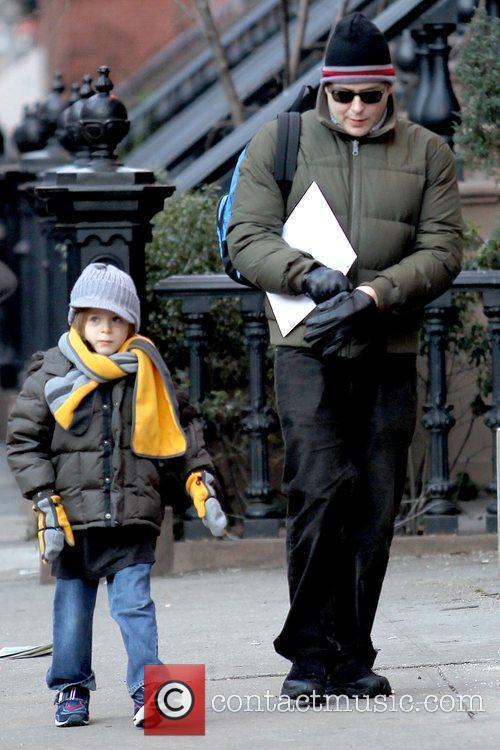 Matthew Broderick walking his son to school in...