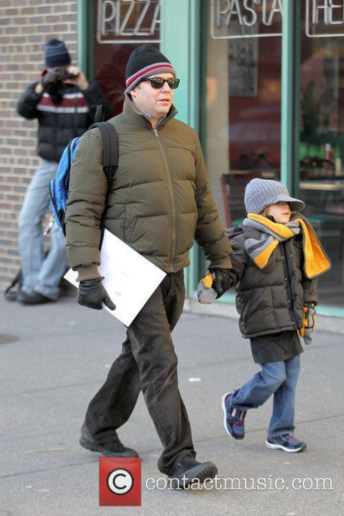 Matthew Broderick walking his son to school in...