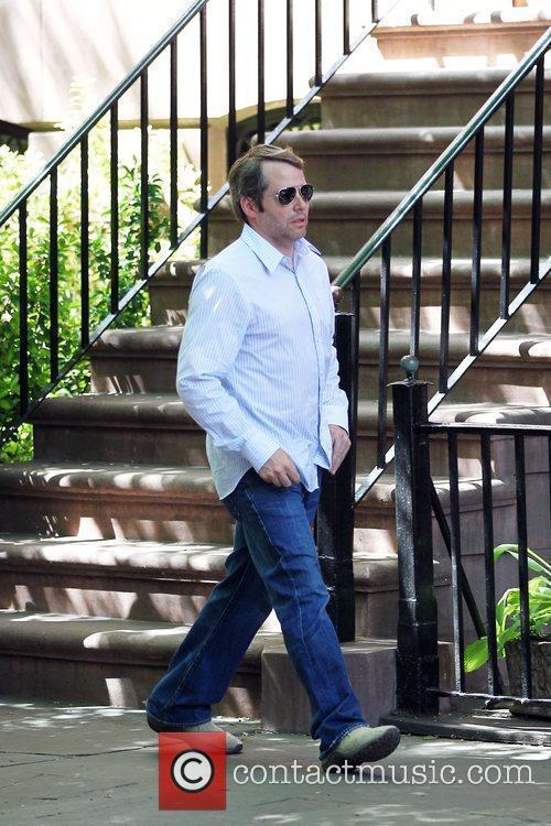 Matthew Broderick takes a walk in Greenwich Village...