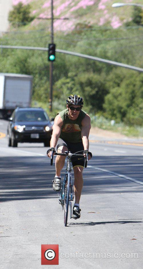 Matthew McConaughey was spotted on a bike ride...