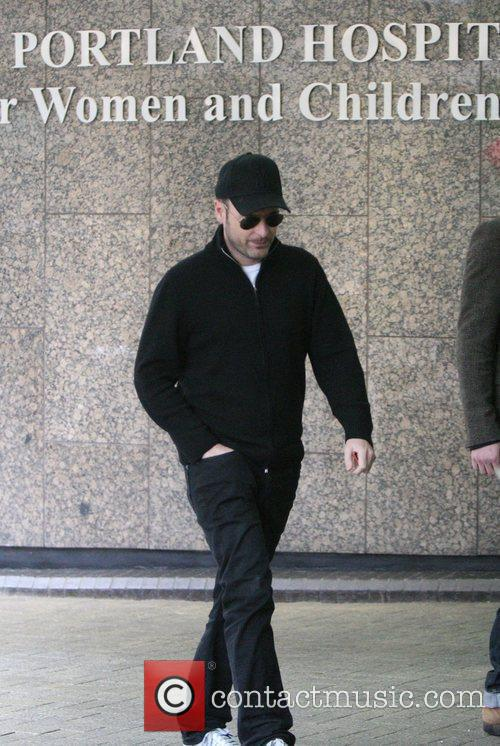 Matthew Vaughn arriving at the hospital where his...