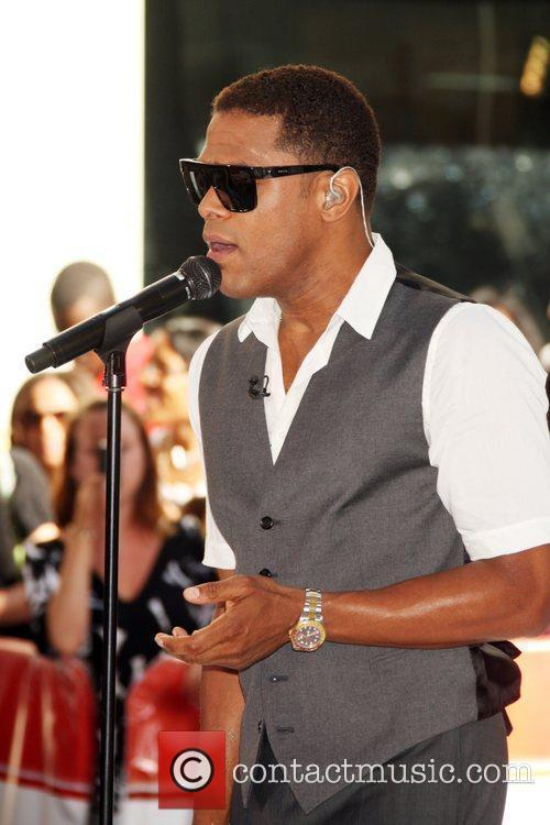 Maxwell performing live on 'The Today Show Concert...